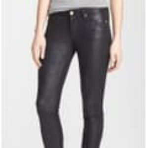 Skinny High Rise Faux Leather Pants